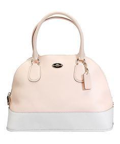 Loving this Coach Apricot & Chalk Cora Leather Satchel on #zulily! #zulilyfinds