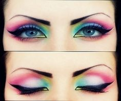Gorgeous rainbow eyes!