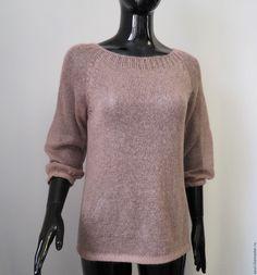Купить Джемпер из кид-мохера - Кофточка вязаная, джемпер вязаный, джемпер женский, Нарядная одежда