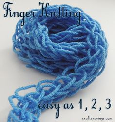 Finger Knitting Tutorial project on Craftsy.com