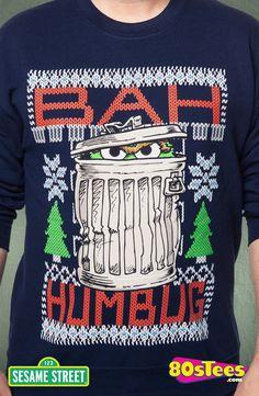 Sesame Street Oscar The Grouch Faux Ugly Christmas Sweater Pop Punk Fashion, Lolita Fashion, Hipster Accessories, Fashion Accessories, Punk Rock Outfits, Emo Outfits, Oscar The Grouch, Batman Outfits, Christmas Fashion