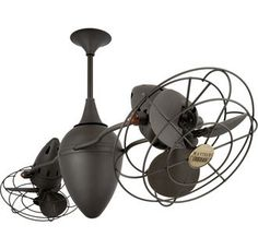 "Matthews Fan Company AR-MTL 48"" Handmade Ar Ruthiane Dual Rotational Ceiling Fan with High Gauge Steel Construction and Metal Blades"