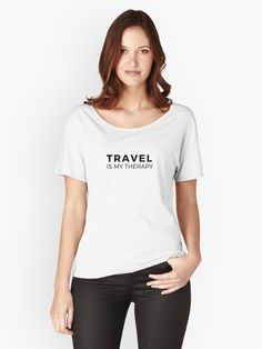 Travel is my Therapy – traveler mantra • Also buy this artwork on apparel, stickers, phone cases, and more.