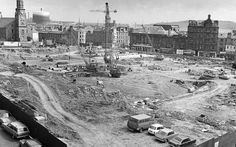 Site of the Central Library in Dundee. 1975