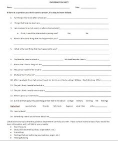 student intake form template - school counseling forms on pinterest school counselor