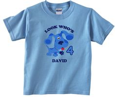Blues Clues Personalized Custom Birthday Shirt