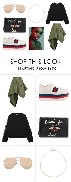 """""""YOUNG GOD"""" by laura-melissa-cortes on Polyvore featuring Monse, Gucci, Fendi, Linda Farrow y Zoë Chicco"""