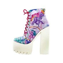 My Little Pony Merry Go Round shoe with chunky platform heel and print multicolours