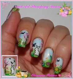 #bundlemonster & #shopbm Nail Art Stamping Mania: Easter Manicure - Gradient and Stamping decal  http://nailartstampingmania.blogspot.it/2014/04/easter-manicure-gradient-and-stamping.html