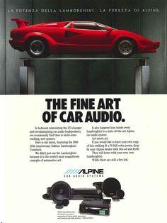 Alpine Lamborghini advert