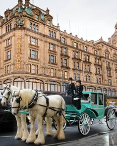 Tiffany & Co. carriage outside Harrods, London.