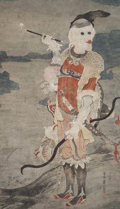 Soga Shōhaku, Western Hunter, c. 1765–70, ink and color on paper, the Kimiko and John Powers Collection of Japanese Art, MFA Houston, Japanese Aesthetics