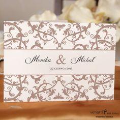 Zaproszenia ślubne z ażurowym wzorkiem