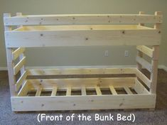 Toddler Bunk Bed PLANS, Do it Yourself (DIY) PLANS for building a crib-size toddler bunk bed