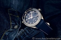 Omega Seamaster Planet Ocean Liquid Metal by #acejewelers, via Flickr
