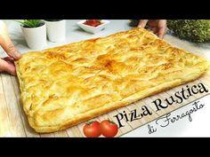 PIZZA RUSTICA 🍅🧀🥓🥚 ricetta facile e veloce 🍅 SAVORY RUSTIC CAKE - YouTube Pizza Rustica, Focaccia Pizza, Quiche, Buffet, Greek Recipes, Party Snacks, Food And Drink, Favorite Recipes, Dinner