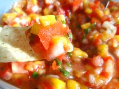 Peach Mango Salsa | Tammys Recipes