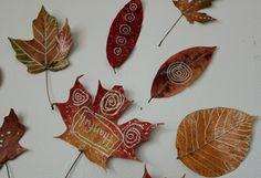 Fall Leaf Mandala for the Wall