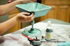 Glazing Pedestal Bowls