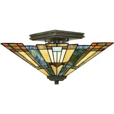 Inglenook Small Semi Flush Ceiling Light Quoizel Semi Flush Flush & Semi…