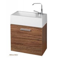 Gäste-WC Badmöbel Waschbecken mit Unterschrank und Ablagefächer - Wunderbad