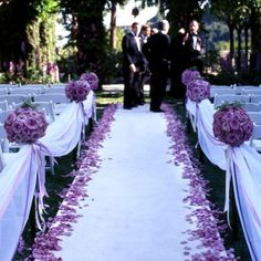 Rose Petals Down Aisle