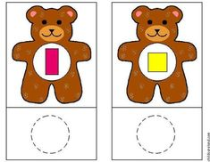 Các hình ảnh Teaching Kindergarten, Preschool Learning, Learning Centers, Preschool Activities, Shape Matching, Matching Games, Shape Games, Goldilocks And The Three Bears, Groundhog Day