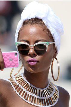 Como usar lenço: turbante