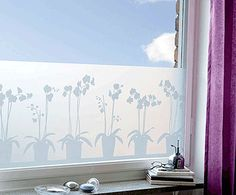 Window film instead of cafe curtains - perfect for the kitchen