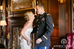 A sweet first look moment from a man in uniform! #flf #firstlookfriday #memorialday