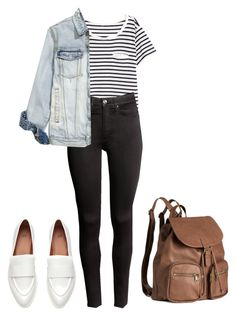 """HM."" by crazygirlandproud ❤ liked on Polyvore featuring H&M"