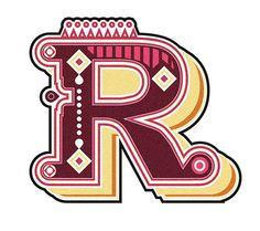 Una R desde Inspiração Tipográfica #27
