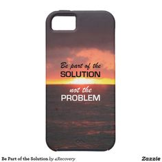 Be Part of the Solution iPhone 5 Cover