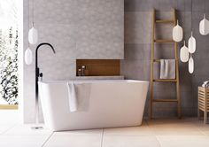 Elsa White Freestanding Acrylic Bath Extra Wide Double-Sided Bath Exclusive to Easy Bathrooms