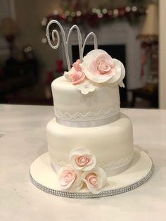 Wedding cake created by me Cristina Victorino Raposo Art Cakes, Cake Art, Beautiful Wedding Cakes, Beautiful Cakes, Cupcake Cakes, Cupcakes, Wedding Cake Toppers, Celebration, Create