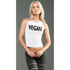 FTLA Apparel eco-HYBRID™ Spandex Jersey Fitted and Cropped Muscle Tank - Vegan Sprout - 47% Lenzing Modal®, 47% combed cotton and 6% spandex