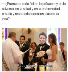 El Señor de la Tienda en su casamiento :v