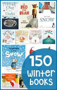 Find over 150 winter books for kids in this post! There's so much variety - and the list is perfect if you're looking for books about winter for preschoolers.