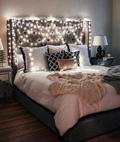 #architechture #fairy_lights #bedroom #bedroom_tumblr