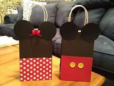 Mickey and Minnie Mouse Birthday Party Gift Favor Goody Treat Bags