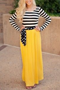 A Walk in Paris Maxi Dress- Mustard