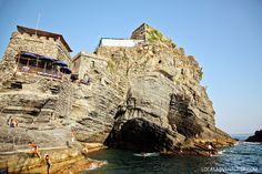 Cliff Jumping in Cinque Terre Images.