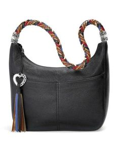 This black leather hobo bag from Brighton is so elegant!  brighton   blackleatherbagwomens   f5e4e1ceabeae