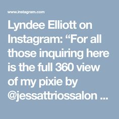 """Lyndee Elliott on Instagram: """"For all those inquiring here is the full 360 view of my pixie by @jessattriossalon ❤️❤️ #nothingbutpixies #platinumpixie #backbypopulardemand…"""""""