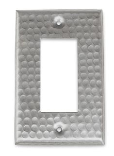 Monarch Nickel Hammered Single Rocker Wall Plate Switch Plating Plates On