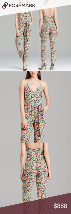 YUMI KIM Casual Romper Intricate Long Draped Maxi Size XS. Brand New Without Tags.  • Beautiful jumpsuit featuring lightweight silk fabric & halter-style neckline. • Yellow & blue multicolor floral printed design throughout. • Surplice v-neckline with single hidden snap. • Matching belt at waist with built-in loops. • Hidden back zip closure. • Side hip pockets. • 229 msrp + tax. • XS = 0-2. • Unlined  # Fall Jumper Playsuit Back to School  { Southern Girl Fashion } • Same-Business-Day…