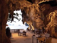 Ocean cave dining. For 2 please.