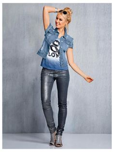 #Jeansweste #Shirt #Jeans