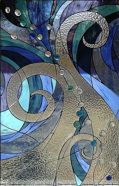 """menentk: """" Blessings Stained Glass by Cliff_Baise on Flickr. """" #StainedGlassAbstract #StainedGlassDrawing"""