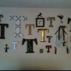 "My letter ""T"" wall so far"